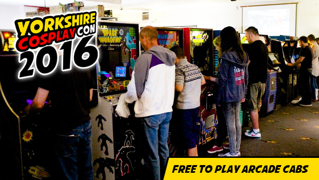 Free to Play Arcades and other Video Games available at sheffield Arena during Yorkshire Cosplay Con