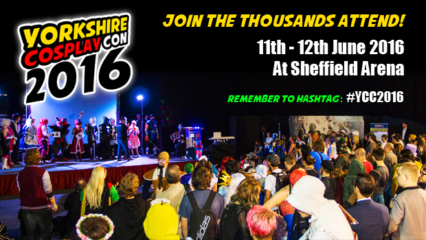 Join Thousands of Anime, Cosplay, Comic Book, Sci-Fi and Videogaming Fans at Sheffield Arena for Comic Con this June