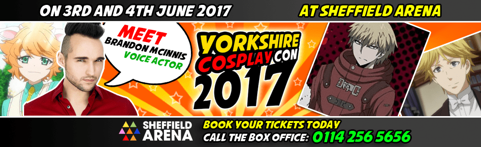 Meet Brandon McInnis at Yorkshire Cosplay Con 2017 Sheffiela Arena
