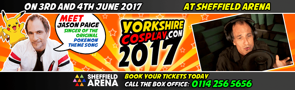 Meet Jason Paige at Yorkshire Cosplay Con 2017 Sheffiela Arena