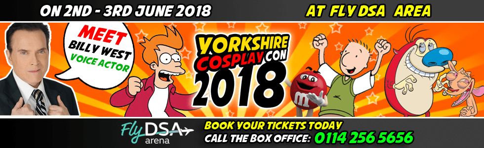 Meet Billy West at Yorkshire Cosplay Con 2018 Sheffiela Arena